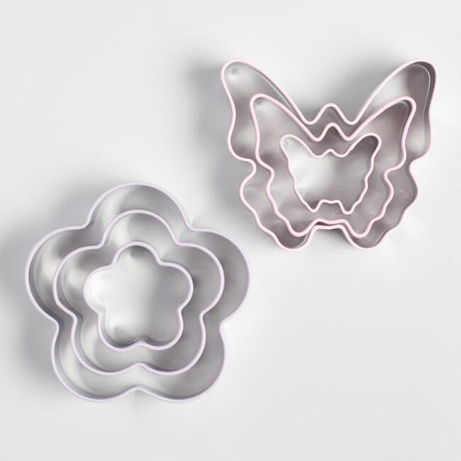 Butterfly and Flower 3 Pack Cookie Cutters Set of 2
