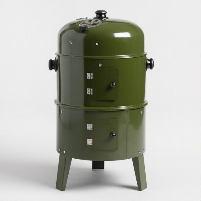 Army Green Charcoal Smoker