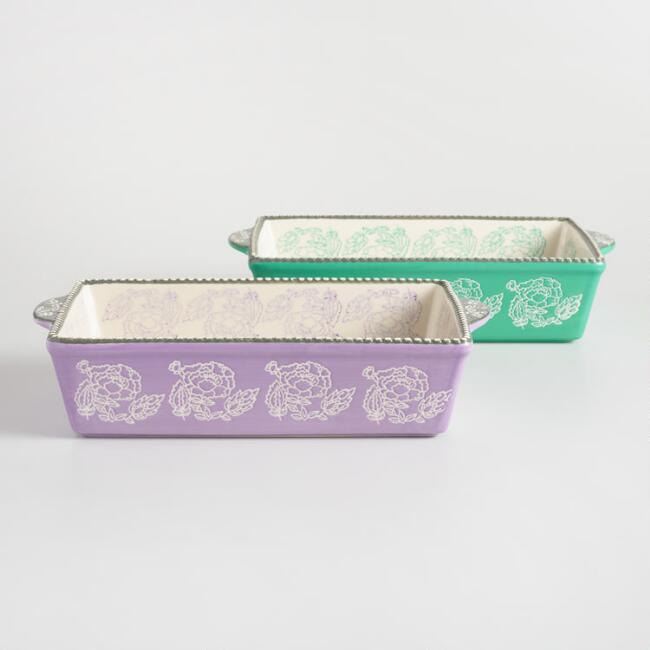 Philipa Floral Ceramic Bakers Set of 2