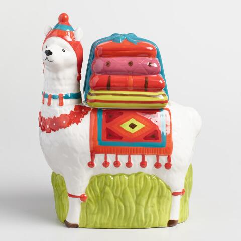 Ceramic Llama Cookie Jar World Market