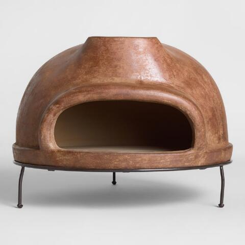 Extra Large Brown Terracotta Pizza Oven World Market