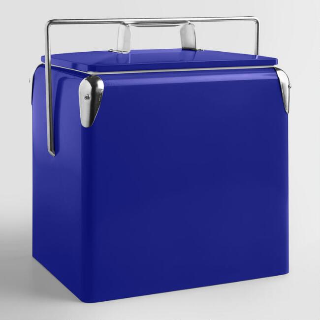Blue Retro Drink Cooler