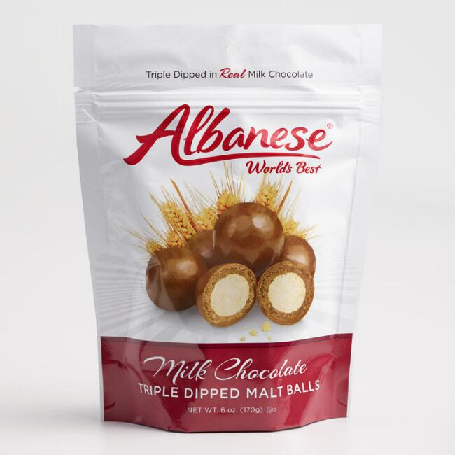 Albanese Milk Chocolate Triple Dipped Malt Balls
