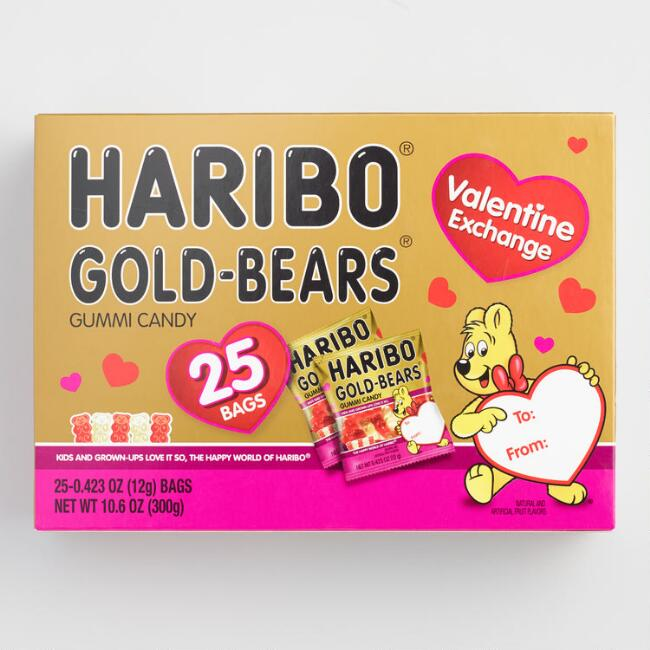 Haribo Valentine's Day Gummy Bears 25 Pack