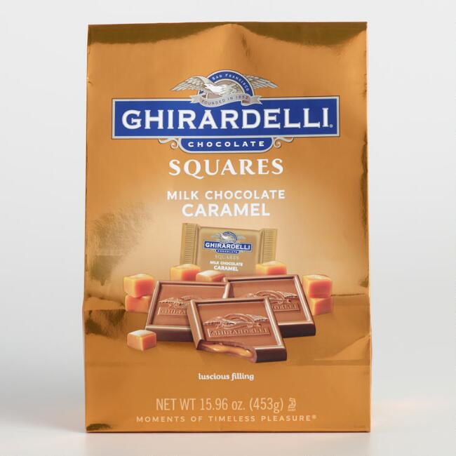 Extra-Large Ghirardelli Milk Chocolate and Caramel Squares