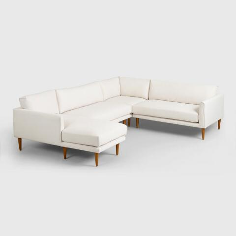 Fabulous Ivory Nica Sectional Armless 2 Seat Sofa Beatyapartments Chair Design Images Beatyapartmentscom