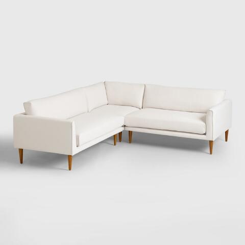 Awe Inspiring Ivory Nica Right Facing Sectional 2 Seat Sofa Beatyapartments Chair Design Images Beatyapartmentscom