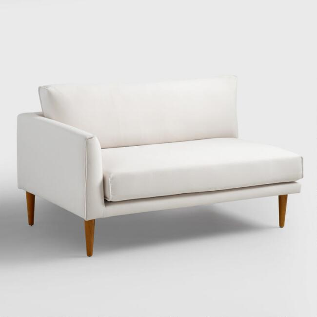 Ivory Nica Left Arm Facing Sofa