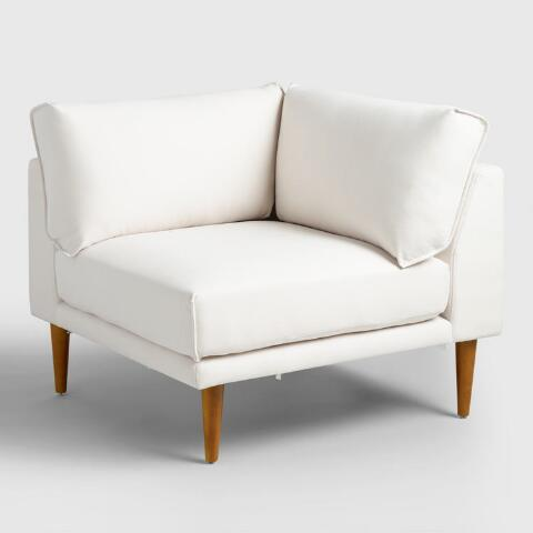 Enjoyable Ivory Nica Sectional Corner Chair Beatyapartments Chair Design Images Beatyapartmentscom