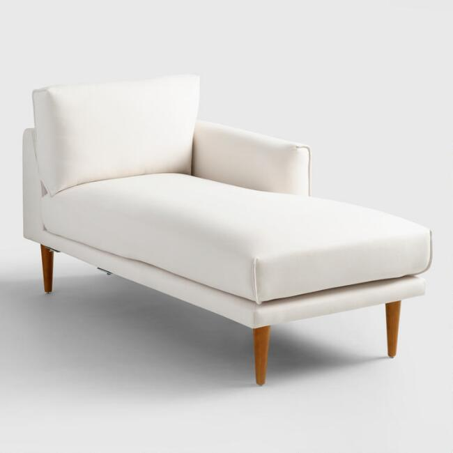 Ivory Nica Right Arm Facing Chaise Lounge