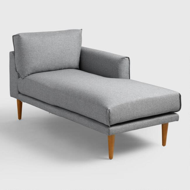 Gray Nica Right Arm Facing Chaise Lounge