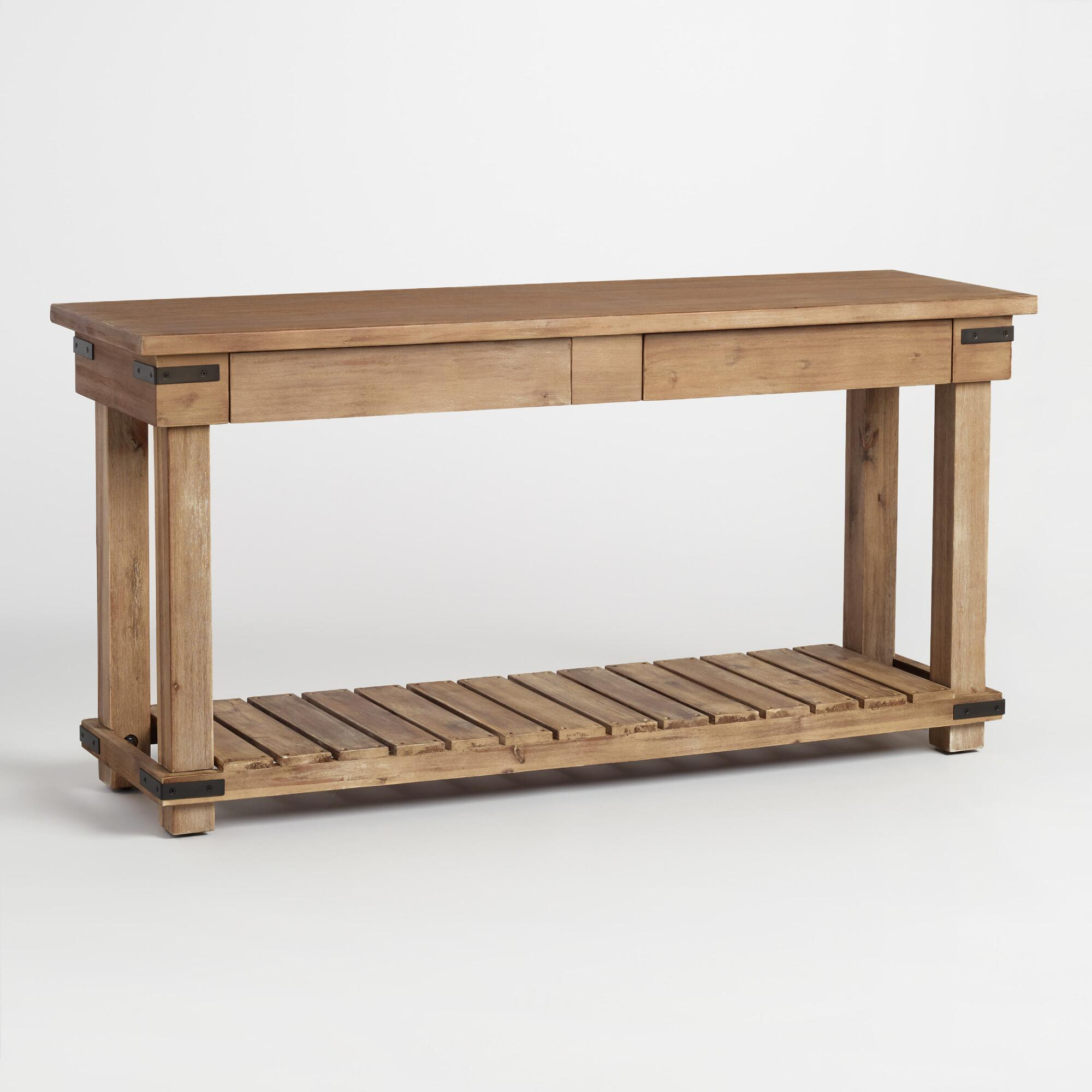 Distressed wood cameron console table world market