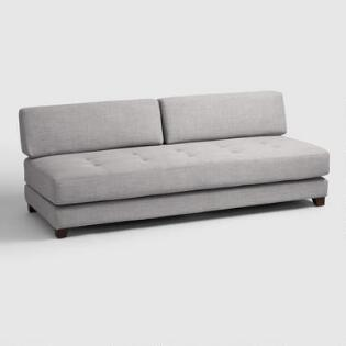 light gray hartley upholstered duet daybed - Daybed Sofa