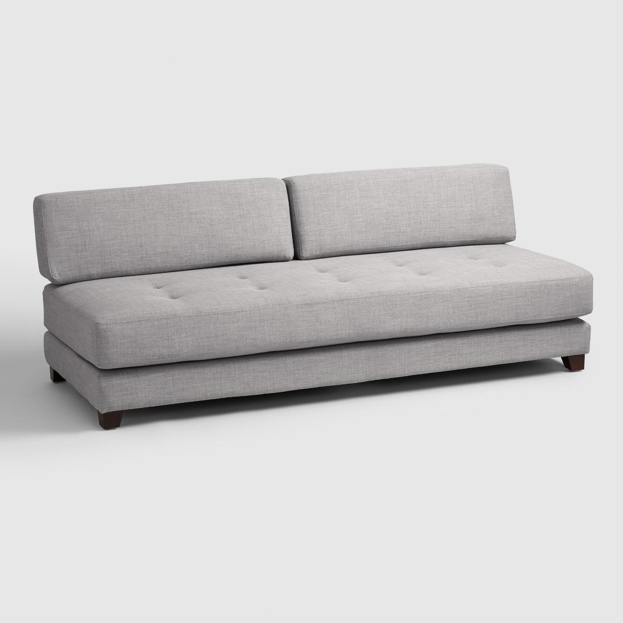 Daybed sofa couch - Light Gray Hartley Upholstered Duet Daybed