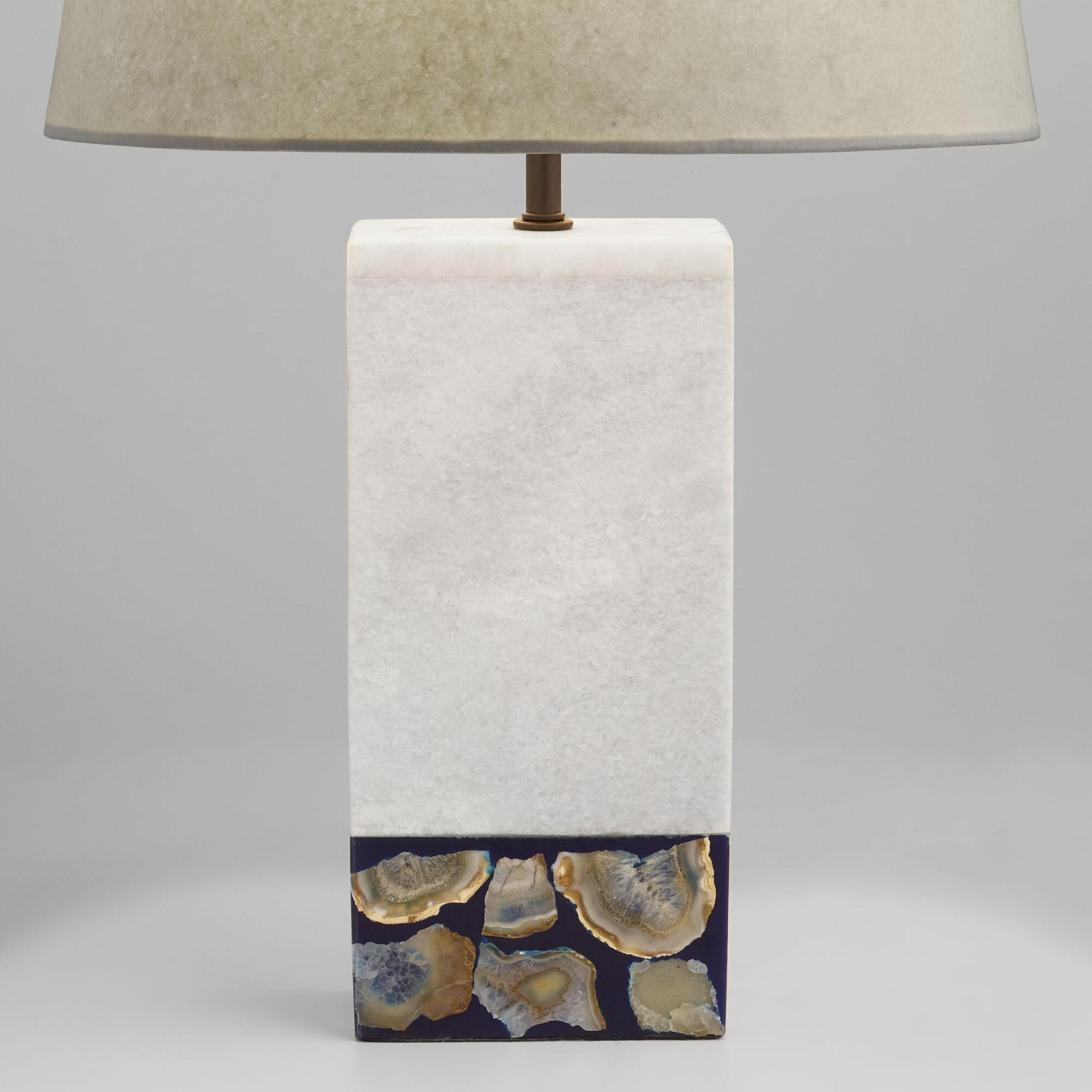 Wood teardrop table lamp base world market white marble and agate table lamp base geotapseo Image collections