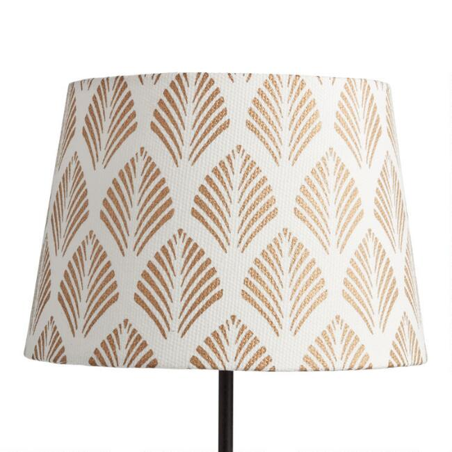 Gold Fern Cotton Accent Lamp Shade