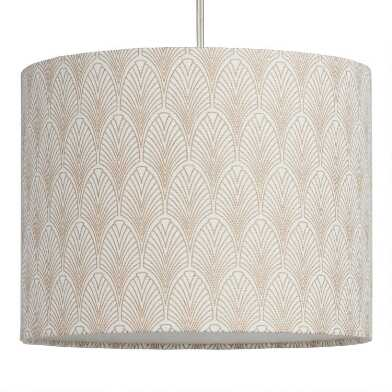 Gold Deco Fan Drum Table Lamp Shade