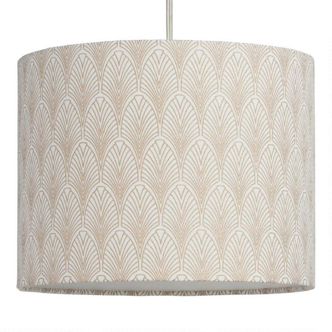 Gold Fan Cotton Drum Table Lamp Shade World Market