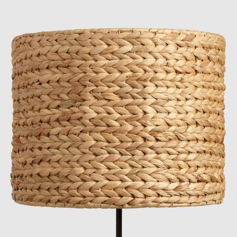Woven water hyacinth drum table lamp shade world market v2 mozeypictures Gallery