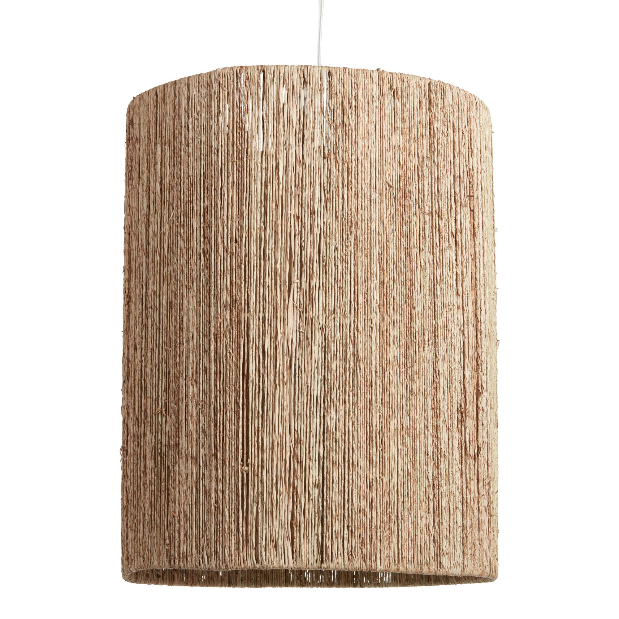 Tall Woven Jute Drum Floor Lamp Shade: Natural - Natural Fiber by World Market