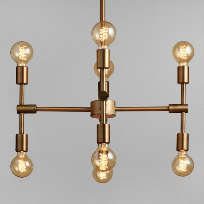 - Antique Gold Modular 8 Bulb Chandelier World Market