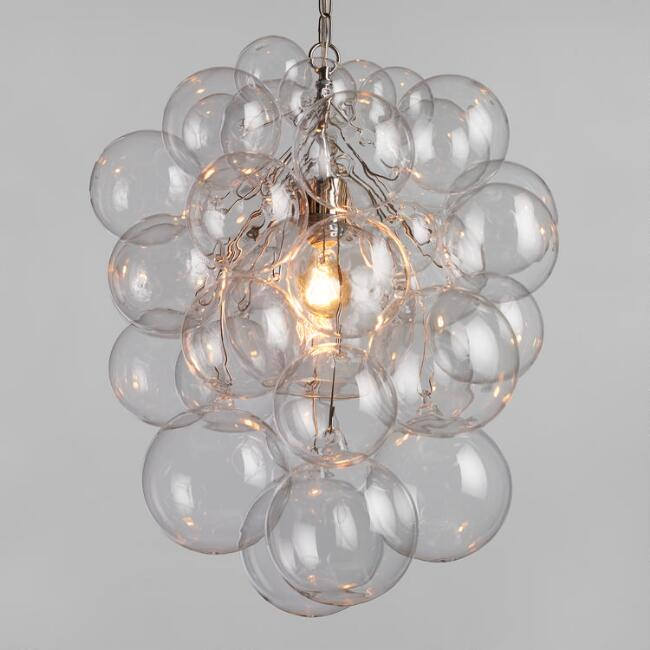 Bubble glass orb chandelier world market mozeypictures Choice Image