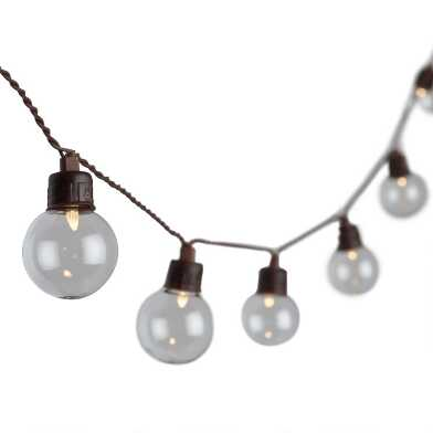 Clear Glass Solar LED 30 Bulb String Lights