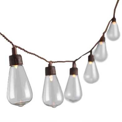 Edison Style Solar LED 30 Bulb String Lights