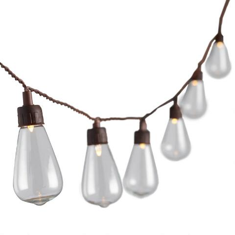 Edison Style Solar Led 30 Bulb String Lights World Market