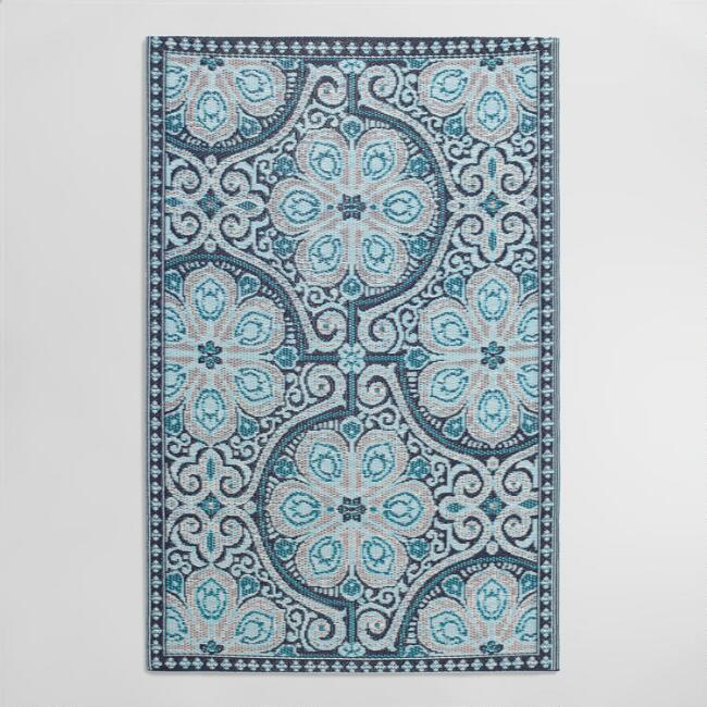 Indigo Blue Nomad Indoor Outdoor Rio Floor Mat