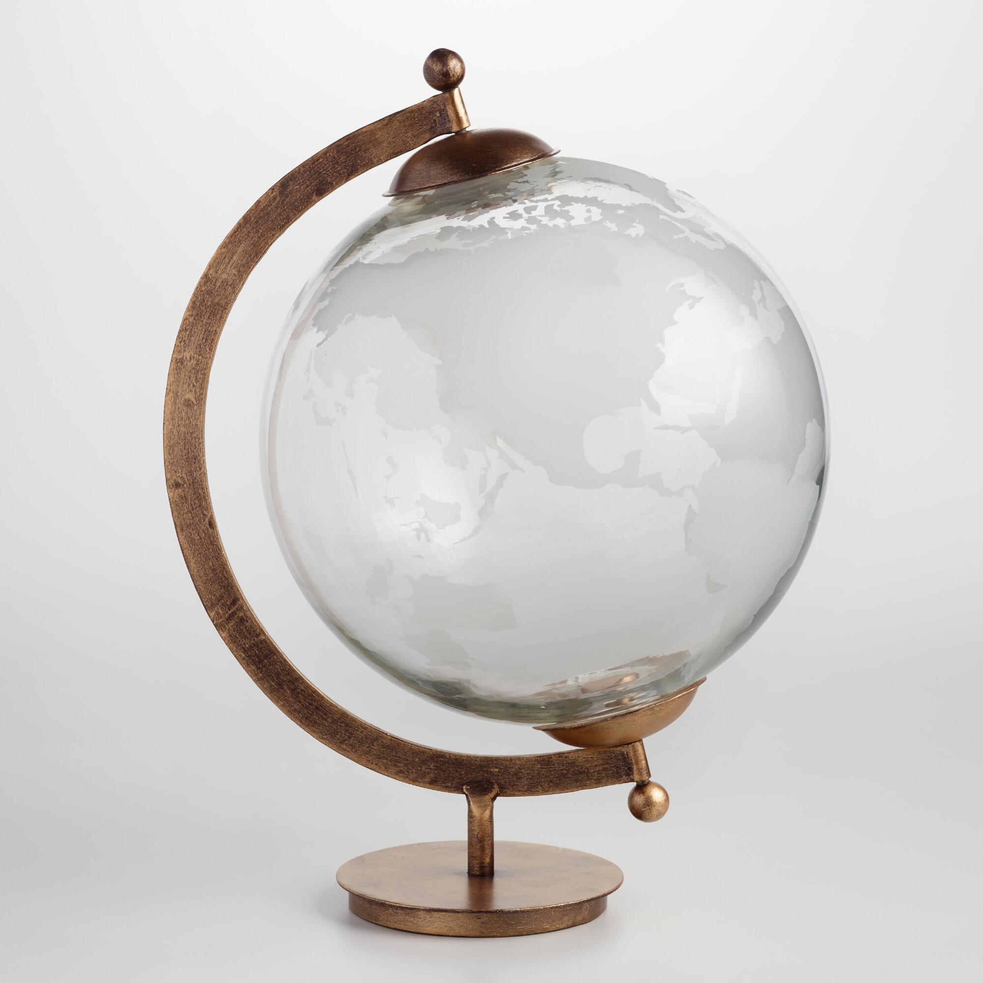 Etched Glass Globe: Metallic by World Market