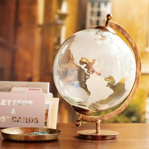 Etched Glass Globe World Market