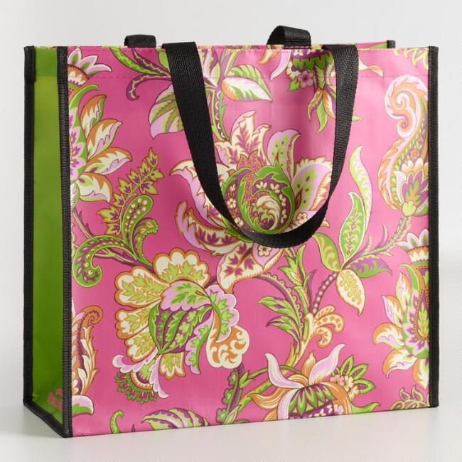 Spring Bloom Wide Tote