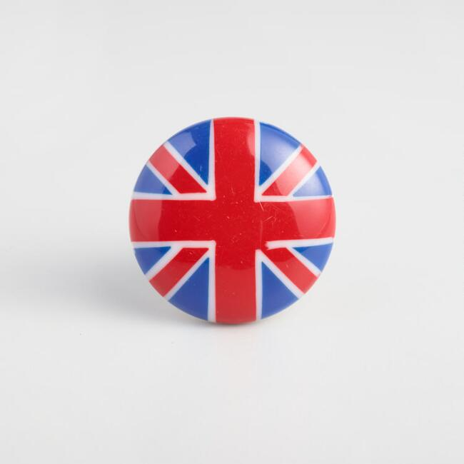 Union Jack Knobs Set of 2
