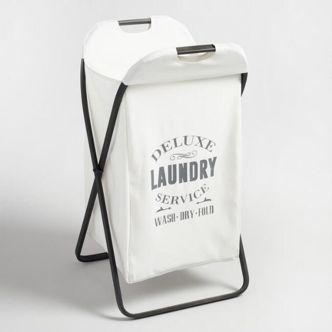 Metal Louise Folding Laundry Hamper