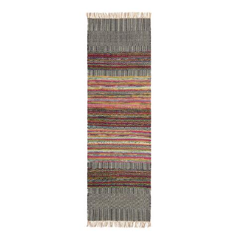 Black Geo Chindi Reversible Amarah Runner