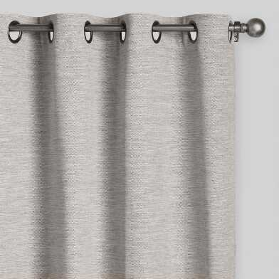 Heather Gray Cotton Grommet Top Curtains Set Of 2