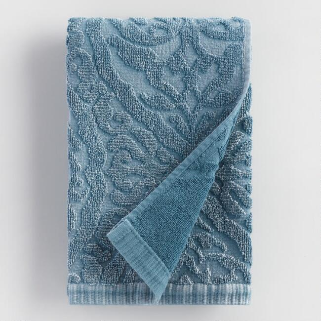 Blue Ogee Therese Sculpted Hand Towel