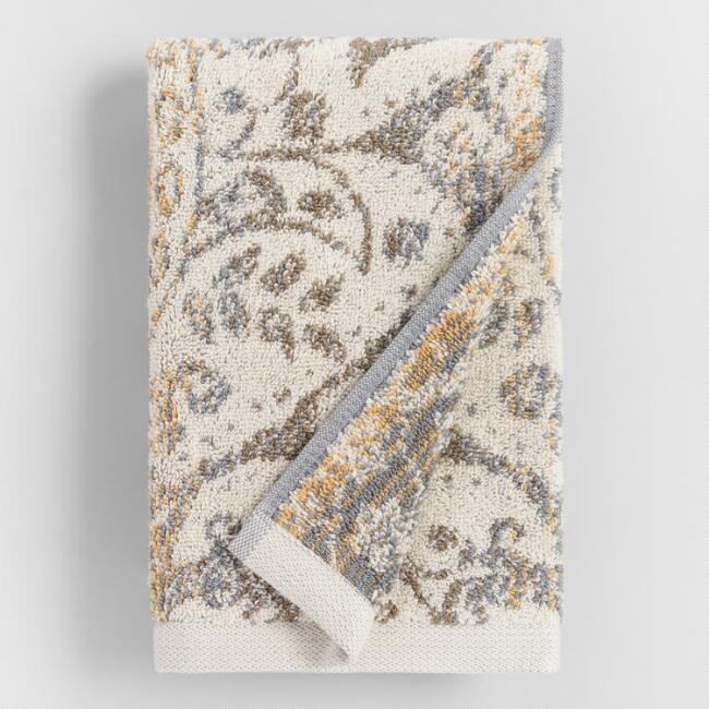 Gold and Taupe Ombre Ariana Hand Towel