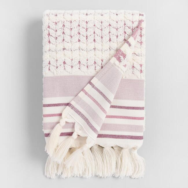 Lavender and Ivory Riley Sculpted Hand Towel