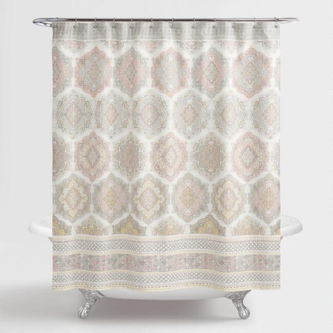 Pink Blush Medallion Sintra Shower Curtain