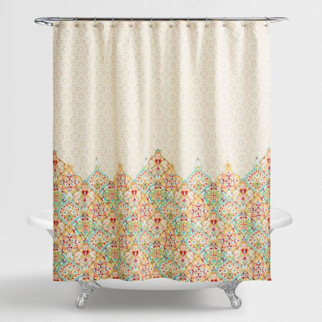 Taupe Moroccan Bazaar Shower Curtain