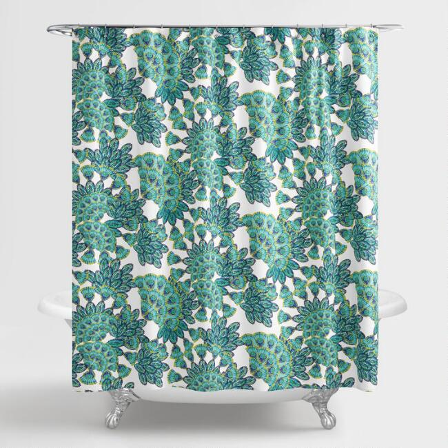 Blue And Green Peacock Shower Curtain World Market