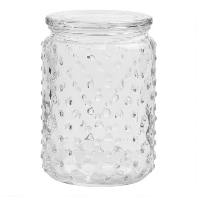 Medium Hobnail Glass Canister