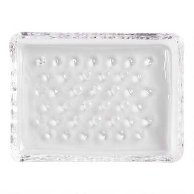 Hobnail Glass Soap Dish