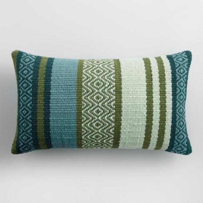 Cool Multicolor Embroidered Indoor Outdoor Lumbar Pillow