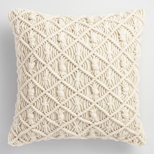 macrame blanket jali macrame indoor outdoor throw pillow world market 2093