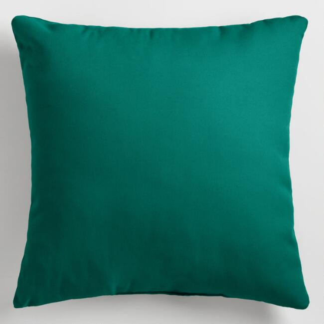Aqua Outdoor Throw  Pillow