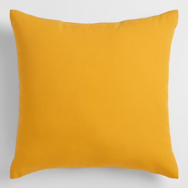 Yellow Outdoor Throw Pillow