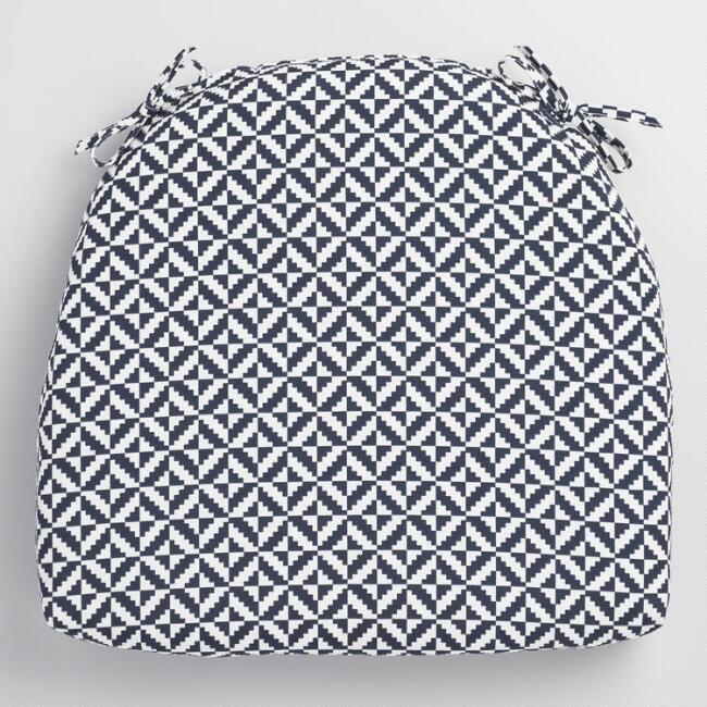 Blue Geometric Cadiz Outdoor Chair Cushion